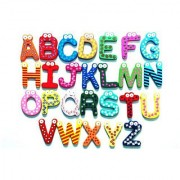 Wooden A-Z Alphabet Letters Fridge Magnets Magnetic Stickers (Set of 26)