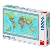 Puzzle Harta politica a lumii, 1000 piese, 10-15 ani