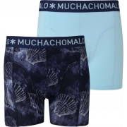 Muchachomalo Shorts 2er-Pack Coral 6 - Dunkelblau Größe M