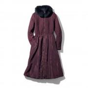 ワンピース風 キルティング 中わたコート