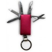 Tootpado 4 In 1 - Multi-Functional Army Saw Tool Set Key Chain Swiss Army Knife(Red)
