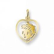 Quickjewels Huiscollectie Goud Gouden kinderkopje jongen 4005838