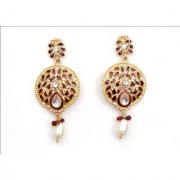 Indian Style Beaded Dangle Drop Fashionable Earrings Traditional Jhumka Jhumki Earrings for Women 11