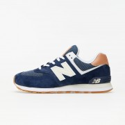 New Balance 574 Navy Blue/ Brown
