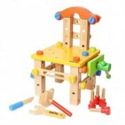 Scaun cu unelte - set de construit din lemn Garibel
