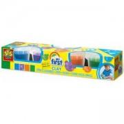 Пластелин за най-малките, 4 цвята х 90гр., SES, 0814431