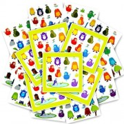 Monster Stickers Party Favors Pack Kids Toddlers -- Over 600 Monsters Stickers (24 Sheets