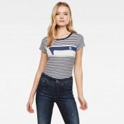 G-star RAW Femmes Haut Litmic Yarn Dyed Stripe GR One Slim Bleu moyen