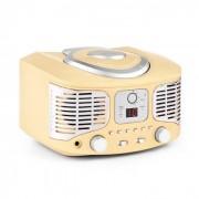 Auna RCD320 Reproductor de CD retro FM AUX Crema (MISM1-RCD320 CR)