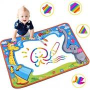 "Aqua Magic mat, Water Doodle Pad, 29.5""x 20.4"" Colorful Childrens Board and Magic Pen Childrens Educational Toys Boys Girls Gifts (2 Magic Pen)"