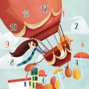 Clementoni - Klok-legpuzzel - Hot air balloon - 96 stukjes
