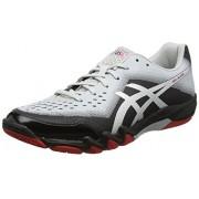 ASICS Men's Gel-Blade 6 Black/Silver/Glacier Grey Badminton Shoes - 8 UK/India (42.5 EU)(9 US)