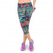 Leotrados De Mujer Pantalones Cropped De Impresión De La Vendimia Cintura Elástico Para La Gimnasia Yoga Pantalones De Capri 1 #