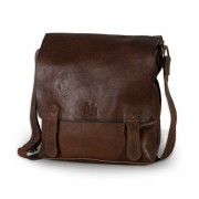 Leather bag to shoulder 8385 in brown color