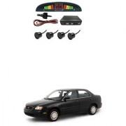 KunjZone Car Reverse Parking Sensor Black With LED Display Parking Sensor For Maruti Suzuki Esteem
