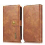 DG.MING Split Leather Wallet Style Case with Stand for iPhone 11 6.1 inch - Brown