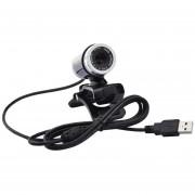 Cámara giratoria HD 480P Webcam Cámara USB para grabación de vídeo de la cámara Web-negro