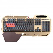 Teclado Gaming Bloody 8 Light Strike B-418 Dourado