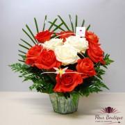 Cos flori 11 trandafiri