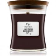 Woodwick Black Cherry lumânare parfumată cu fitil din lemn 275 g