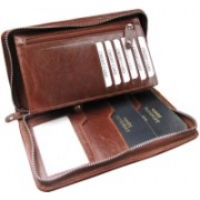 ABYS Independence Day Special-Genuine Leather Passport Holder||Credit Card Holder||Travel Wallet with Metallic Zip Closure(Maroon)