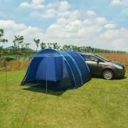 vidaXL Tenda de campismo 390x330x195 cm azul