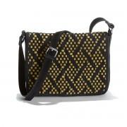 LA REDOUTE COLLECTIONS Handtasche, Taschenklappe zweifarbig geflochten