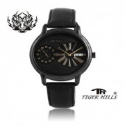 Tigerhills Dual Time Leather Strap Mens Watch M.N-002