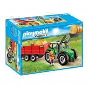 Playmobil country trattore con rimorchio 6130