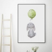 Poster, Bunny and balloon (30x40 cm)