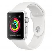 Apple Watch Series 3 GPS 42mm Alumínio Prata Com Correia Desportiva Branca