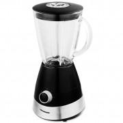 Blender de masa Heinner HBL-550S, 550 W, Bol din sticla 1.5 l, 2 Viteze + Pulse, Negru/Argintiu