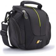 Geanta camera compact Case Logic, doua buzunare laterale, buzunar accesorii, acces frontal, curea umar, banda prindere curea, black, DCB-314 ANTHRACITE / 3201685