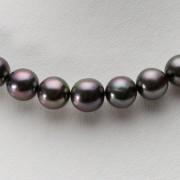 9-11mm 黒蝶真珠 ブラックパール ネックレス (レッドブラック)