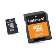Intenso 3413480 Micro SD clase 10 32GB cadapt