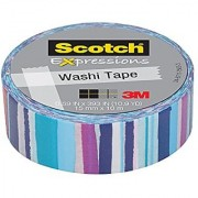 Scotch Expressions Washi Tape 0.59 x 393 Watercolor Stripe 6 Rolls (C314-P62-J)