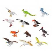 Geen 12x Plastic vogels speelgoed figuren voor kinderen