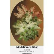 Medalion cu liliac (kit goblen)