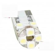 Ampoule T10 LED 3D8 - Anti Erreur OBD - Culot W5W - Blanc pur