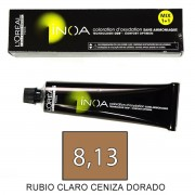 Loreal INOA 8,13 Rubio Claro Ceniza Dorado - tinte 60grs
