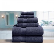 Blue Ridge Home Fashions Elle Luxury Towel set (6-Piece): Deep Cobalt
