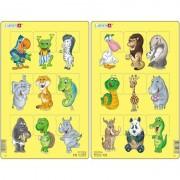 Set 2 Puzzle-uri Larsen Animale, 9 piese