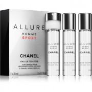Chanel Allure Homme Sport eau de toilette para hombre 3 x 20 ml recarga