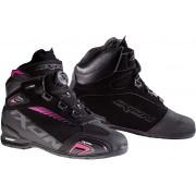 Ixon Bull WP L Dámské moto boty 40 Černá Růžový