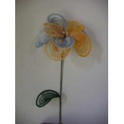 Fiore Giallo Azzurro Doppio Petalo