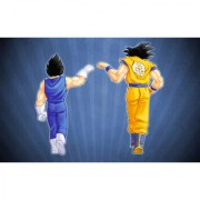 vegeta and goku sticker poster|dragon ball z poster|anime poster|size:12x18 inch|multicolor