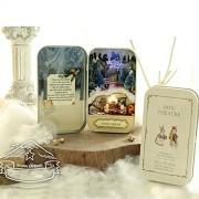 Generic Diy Handwork Snow Ice Dream Assembly Box Theater Led Light Mini House Home Decor Gift
