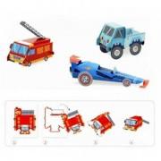 DJECO Pojazdy do składania z papieru bez kleju i nożyczek, DJ09702