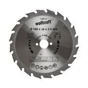 Disc fierastrau circular Wolfcraft Ø160x2,4x16 mm 20 dinti