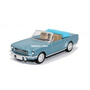 New Ray Newray 1:43 Diecast Blue Ford Mustang 1964 Convertible - All American City Cruiser Collection - 48632